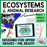Ecosystem Animal Organism Research Project PBL