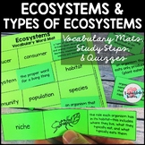 Ecosystems Vocabulary Match up Mat--definition study strategy