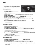 Edgar Allan Poe Biography Video Guided Notes + Key
