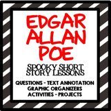 Edgar Allan Poe- Raven, Tell Tale Heart, Black Cat