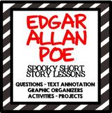 Edgar Allan Poe- Raven, Tell Tale Heart, Black Cat