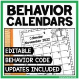 Editable Behavior Calendars: 2014-2015 School Year