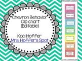 Editable Behavior Clip Charts {Chevron}