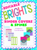 Editable Binder Covers and Spines - Brights Collection