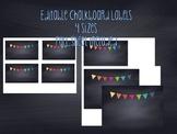 Editable Chalkboard Labels Polkadots