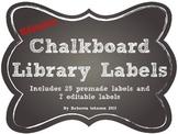 Editable Chalkboard Library Labels