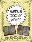 Editable Chevron Teacher Binder and Calendar