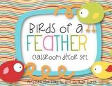 Editable Classroom Decor Pack {Birds of a Feather}