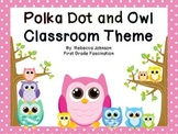 Editable Color Owl and Polka Dot Calendar and Classroom Si