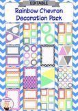 Editable Decoration Pack - Rainbow Chevron