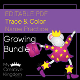 Editable First Name Writing Practice - PK-1