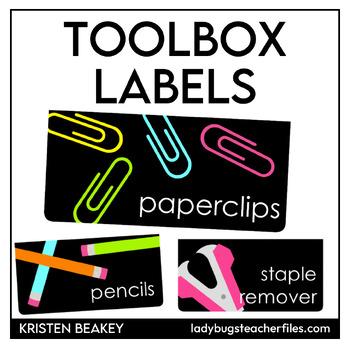 Editable Labels—Teacher Toolbox (Consistent Colors)