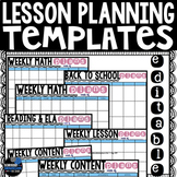 Editable Lesson Planning Templates