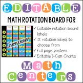 Editable Math Workshop Rotation Board