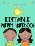Editable Parent Handbook