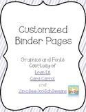 Editable Pastel Binder Pages