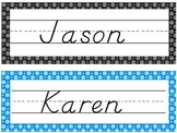 Editable Polkadot Nametags Desktags and Classroom Labels
