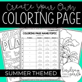 Editable Summer Coloring Pages {Personal Use}