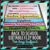 Editable Syllabus Flip Book