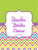 Editable Teacher Binder Covers & Spines {Chevron Brights}