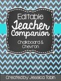 Editable Teacher Companion (Organizing Binder- Chevron and