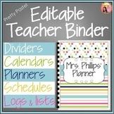 Editable Teacher Binder 2015-2016