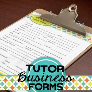 Tutor Forms: Business (Editable)
