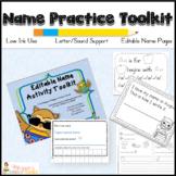 Editable Ultimate Name Practice Toolkit with Bonus ABC Rec