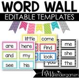 Editable Word Wall Templates