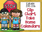 Editable and Non-Editable Clip Chart Take Home Calendars f