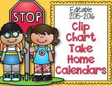 Editable and Non-Editable Clip Chart Take Home Calendars f