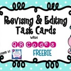 Editing & Revising Task Cards with QR Codes