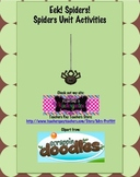 Eek! Spiders! Spiders Unit Activities