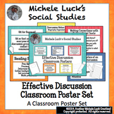 Effective Discussion Classroom Poster Set for Bulletin Boa