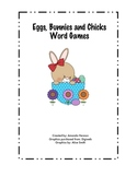 Eggs, Bunnies and Chicks Word Games