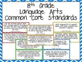 Eighth Grade Common Core Standards- Language Arts Posters