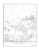 El Greco. View of Toledo.  Coloring page and lesson plan ideas