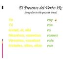 El verbo ir, estar, and Location Words (The verb ir)