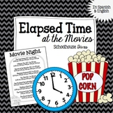 Elapsed Time FREE Activity:  At the Movies!  English & Spa