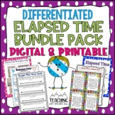 Elapsed Time Bundle for Common Core Differentiated Workshe