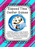 Elapsed Time 5 Center Games Common Core Assessment Test Prep