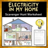 Electricity In My Home Science Scavenger Hunt Activity
