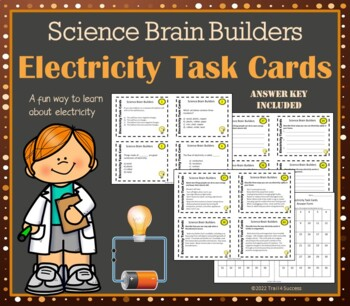 Electricity Task Cards - Science Brain Builders - 40 Cards In All