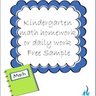 Common Core Daily Math for Kindergarten with Constructed R