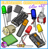 Electronic Components Clip Art (including circuit symbols)