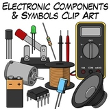 Electronic Components and Symbols Clip Art
