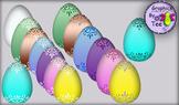 Elegant Easter Eggs Clipaart