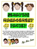 Elementary Behavior Management Packet (JAM-PACKED!)