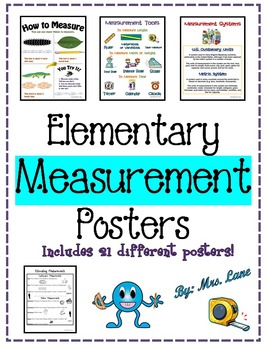 Elementary Measurement Posters (Includes 21 Different Posters!)