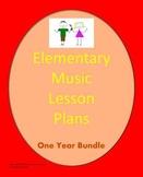 Elementary Music Lesson Plans {Bundled-Full School Year}